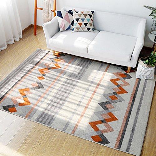 Preisvergleich Produktbild Rechteckigen schwarz und weiß wohnzimmer teppich, schlafzimmer nacht hause kinder rutschfeste matte 120 * 170 cm ( Größe : 80*120cm-b )