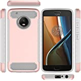 Motorola Moto G5 Plus Shell,Rose Gold Accessory Cover, Codream New Cool Cell Phone Cases Cell Phone Cases Anti-Scratch Protection Case Compatible With Motorola Moto G5 Plus