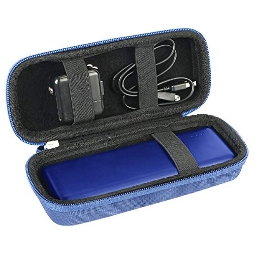 khanka Hart Tasche Schutzhülle Für Anker Powerbank PowerCore 20100mAh Externer Akku hohe Kapazität 2-Port 4,8 A Output Ladegerät Etui Case. (Blau)