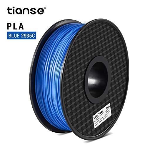 TIANSE Filament PLA 1.75mm, PLA Filament 1.75mm, 3D Drucken Filament PLA for 3D Drucker, 1kg Spool, Blau-2935C MEHRWEG