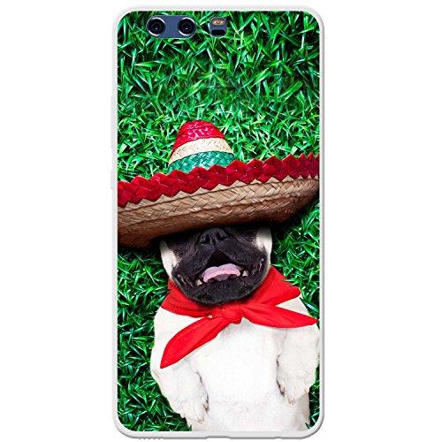 nisch Sombrero-Hut Mops Hartschalenhülle Telefonhülle zum Aufstecken für Huawei P10 Plus (Billig Sombreros)
