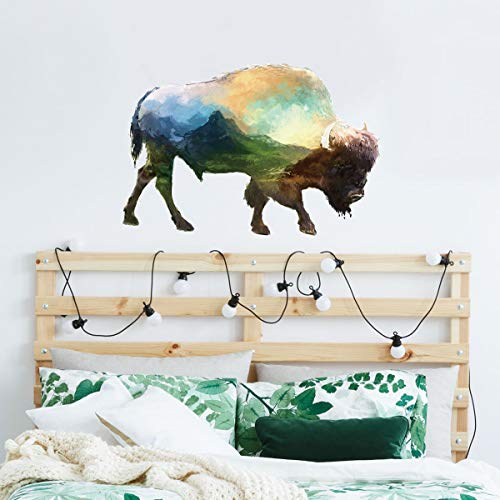 Wandaufkleber 3D Cartoon Farbe Yak Tier Aufkleber Wohnzimmer Kinderzimmer Dekoration Wandaufkleber -