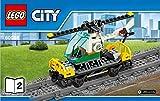 Lego City Eisenbahn Waggon mit Helikopter aus Set 60098