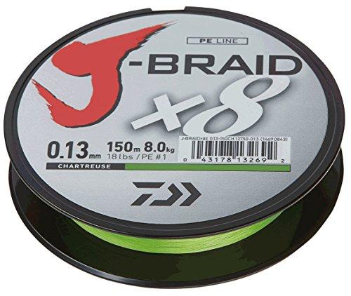 Daiwa J-Braid 8 Braid 0.06mm, 4,0kg/9,0lbs 150m chartreuse
