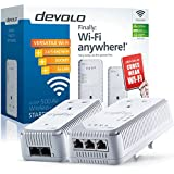 Devolo dLAN 500 AV Wireless+ Powerline Starter Kit, Wi-Fi Signal Booster (Wi-Fi Extender Kit, 500 Mbps, 2 Plugs, 3 LAN Ports, Pass Through, PLC Adapter, Ethernet, Wi-Fi Move) - White