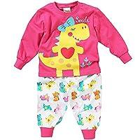 Lullaby Toddler Girls Smile! Cute Dinosaur Heart Long Sleeve Pyjamas