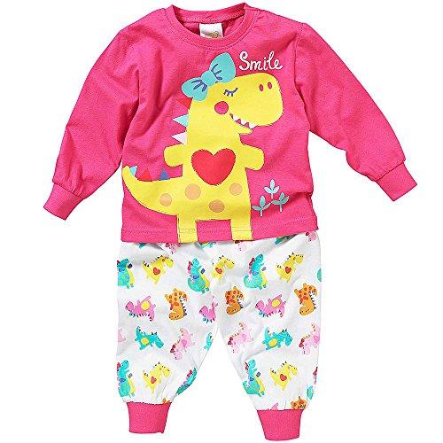 ad048a2337b59 Ensemble Pyjama Manches Longues Lullaby Bébé Petite Fille Coeur Dinosaure  Smile - Rose - 6