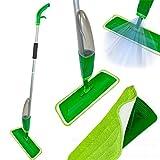 Sprühmop Wischer mit Wassertank Mop Wischmop Sprühwischer Bodenwischer (Grün)