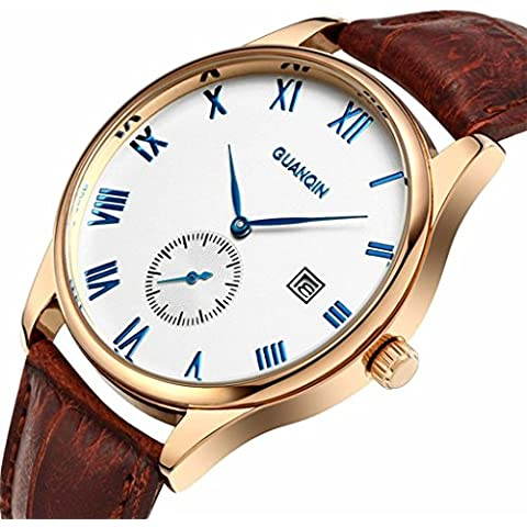 downj – Marca Casual quartz-watch Ultra Sottile Business Orologio impermeabile cinturino in