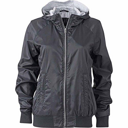 JAMES & NICHOLSON - veste de sport légère - coupe-vent et déperlante - doublée - JN1107 - Femme Noir