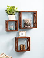 Woodkartindia Modern Design Wooden Wall Shelves/Wall Bracket/Wall Shelf for Home Decor Home Living Room