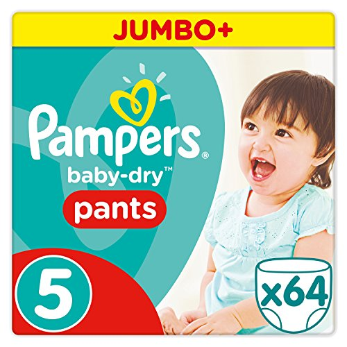 Pampers Baby Dry Pants Windeln, Gr. 5 (11-18 kg), Jumbo Plus, 1er Pack (1 x 64 Stück)