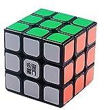 YJ - Yong Jun Sulong 3x3x3 velocidad Puzzle Cubo negro liso + un cubo trípode