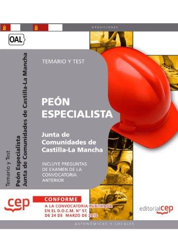 Peón Especialista, Junta de Comunidades de Castilla-La Mancha. Temario y test por Alejandro Yáñez Barea