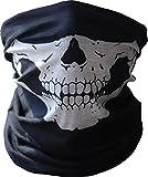YARBAR Schal Halswärmer Moto Schädel Rohr Polyester-Pulvergesichtsmaske Schutz Bandana