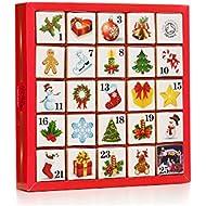English Tea Shop Organic Christmas Ornaments Advent Calendar (Pack of 2, Total 50 Pyramid Tea Bags)