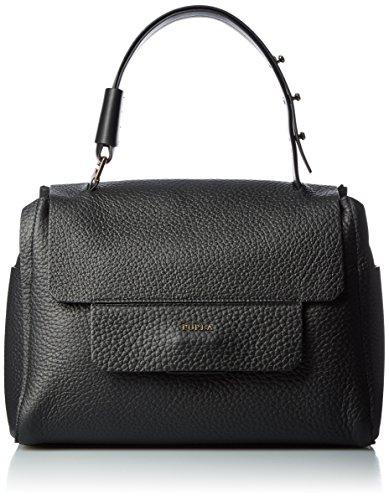 FURLA Damen Capriccio M Top Handle Business Tasche, Schwarz (Onyx), 14x24x32 cm (Furla Tasche Leder)