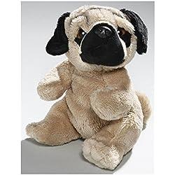 Peluche - Perro Pug, Carlino (felpa, 15cm) [Juguete]