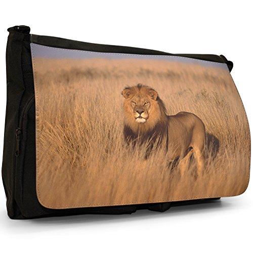 Fancy A Bag Borsa Messenger nero Lion Lion