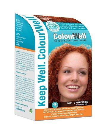 ColourWell 100{c6078fa9a556d570b1bf579fc70781ecbb638088adb0060dfc4d640f3f0d5d23} natürliche Haarfarbe (Kupferrot)