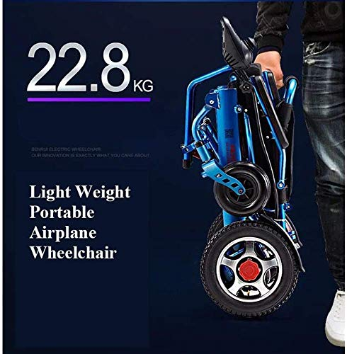51egMeEvD0L - Silla de ruedas eléctrica, nuevo control remoto plegable ligero y ligero Silla de ruedas eléctrica motorizada, Scooter de silla de ruedas eléctrica motorizada ligera plegable y de viaje 2019.