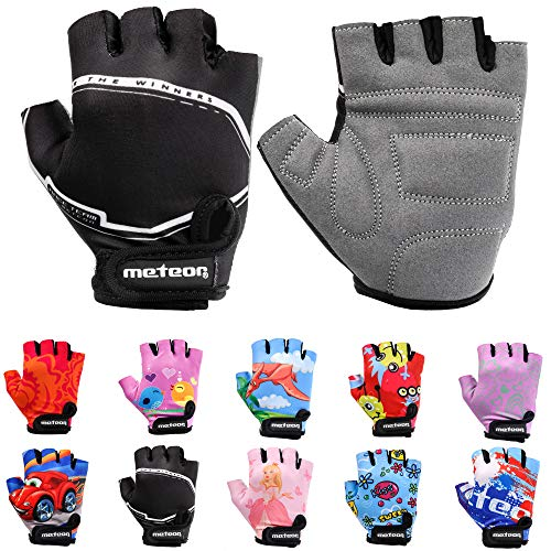 Meteor Unisex Kinder Fahrradhandschuhe Bike - Gel BMX Handschuhe, RACING, Gr.-Jr XS/ Handweite- 6-6.5cm