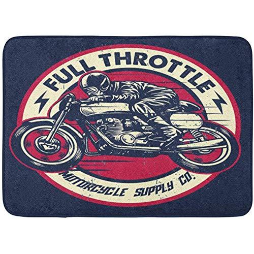 Miyvn Alfombra área Moto Vintage Dibujo Mano Hombre