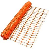 True Products B1003C - Rollo de valla de seguridad de malla de plástico estándar, 4kg, 1m x 50m, color naranja (1unidad)