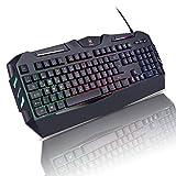 AURSEN Gaming Tastatur Beleuchtet