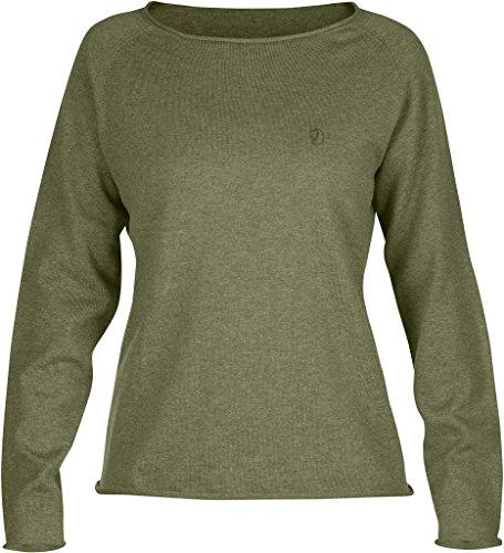 Fjällräven Damen Övik Sweater W. Pullover & Sweatshirts Green
