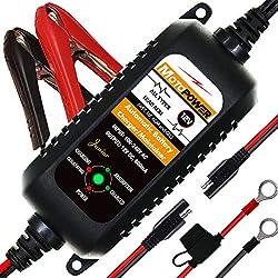 MOTOPOWER MP00205A 12V 800mA Automatisches Ladegerät für Autos, Motorräder, ATVs, Wohnmobile, Powersports, Boot