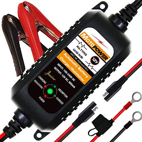 MOTOPOWER MP0205A 12V 800mA Cargador batería automático/Mantenedor