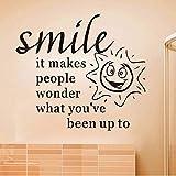 Czxmp Sonne Mit Lächeln Gesicht Abnehmbare Diy Kunst Wandaufkleber Pvc Wohnkultur Für Baby Schlafzimmer Selbstklebende Tapete