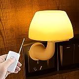 Creative fungo carino, risparmio energetico LED luce notturna, Voice-luce di attivazione del sensore di controllo Plug, luce notturna al posto letto , il telecomando