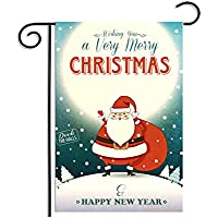 PerGrate Weihnachtsweihnachtsmann-Ren-Schneemann, der Geschenke Garten-Flaggen-Innenfreiraumausgangsdekor sendet