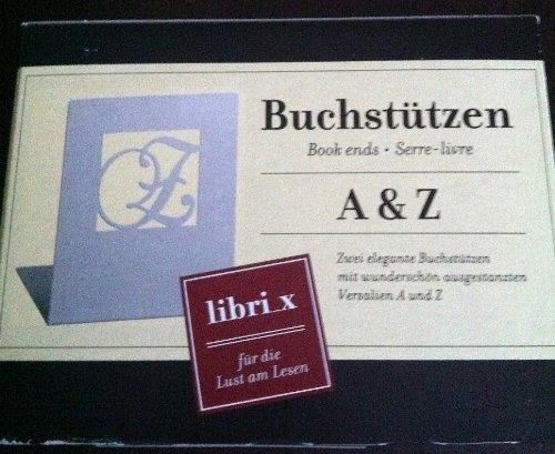 Moses 81645 libri_x Buchstützen A & Z weiße Edition (Sport-buchstützen)