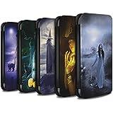 Officiel Elena Dudina Coque/Etui/Housse Cuir PU Case/Cover pour Samsung Galaxy A3 (2016) / Pack 6pcs Design / Magie Noire Collection
