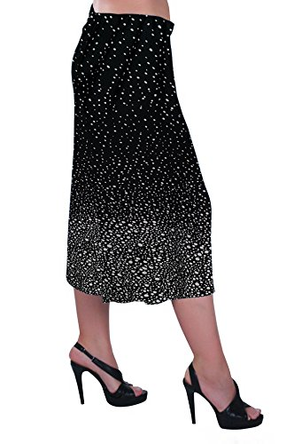 Eyecatch - Femme Jambe Large Modernes Dames Culottes Shorts Pantalons Noir