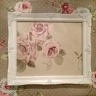 Antique White Ornate Picture frame 10x12