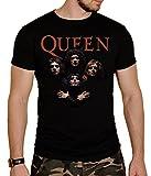 Queen Herren T-Shirt Schwarz Schwarz Gr. L, Schwarz