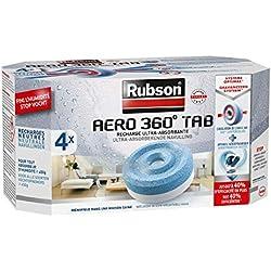 Rubson AERO 360° Recharges en tabs neutres pour absorbeur d'humidité, ultra absorbantes et anti odeurs recharges pour déshumidificateurs AERO 360° (4 x 450 g)