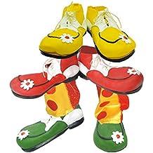 Par de Zapatos o Zapatones Payaso látex Infantiles