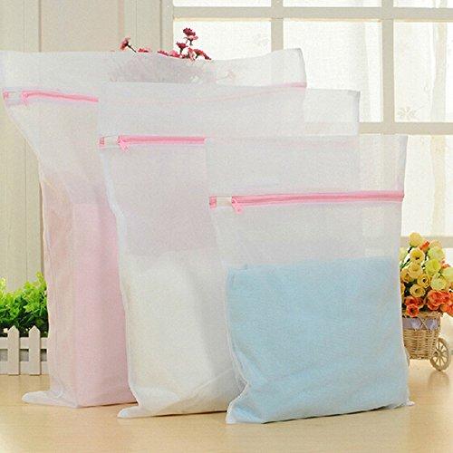 Aistuo Mesh-Wäschebeutel, Rosa mit Reißverschluss Mesh-Waschbeutel für Maschinenwäsche - Wiederverwendbare Mesh-RV Wäscherei Waschbeutel für Dessous, Strumpfhosen, Socken und Unterwäsche - Set von 6 (Small * 2, Medium * 2, Large * 2)