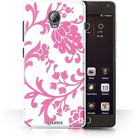 STUFF4 teléfono/cubierta/piel/Caso LNVVP1/Floral sello de recogida rosa con flores