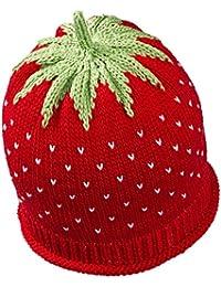 Fruchtige Erdbeer-Sommermütze für Babys & Kleinkinder in rot