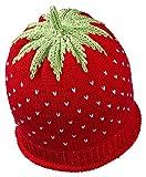 Newborn Erdbeermütze aus leichter Baumwolle in rot, Kopfumfang 34-36cm