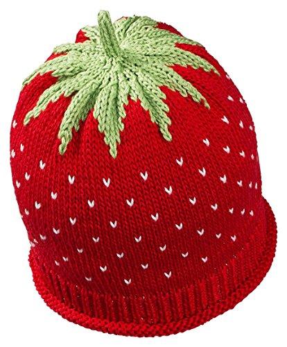 Fruchtige Erdbeer-Sommermütze für Babys & Kleinkinder in rot, Kopfumfang 46-48cm