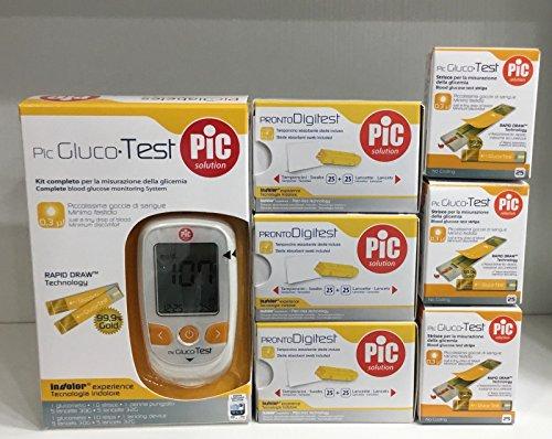 Pic gluco test - 85 strisce per il controllo della glicemia + 80 lancette