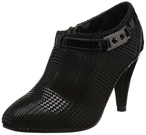 Lotus Women's Steepie Closed-Toe Heels, Black (Black Print), 5 UK 38 EU