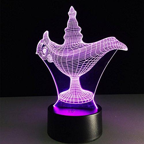 DUHUI Nachtlicht für Kinder 3D-Glühen-LED-Nachtlicht Geheimnis Wunderlampe Kreative 7 Farben Optical Touch-Illusion Lampe